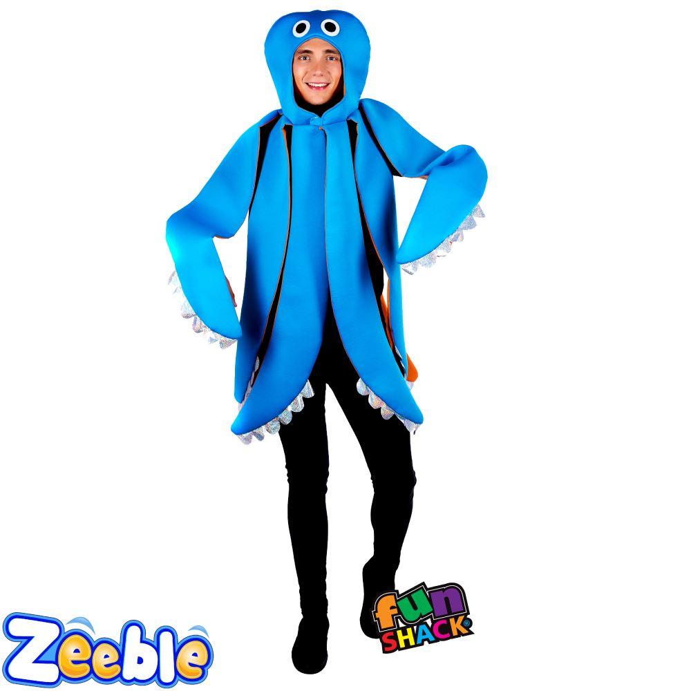 Mens-Sea-Animal-Costume-Adult-Shark-Lobster-Octopus-  sc 1 st  eBay & Mens Sea Animal Costume Adult Shark Lobster Octopus Ladies Fancy ...