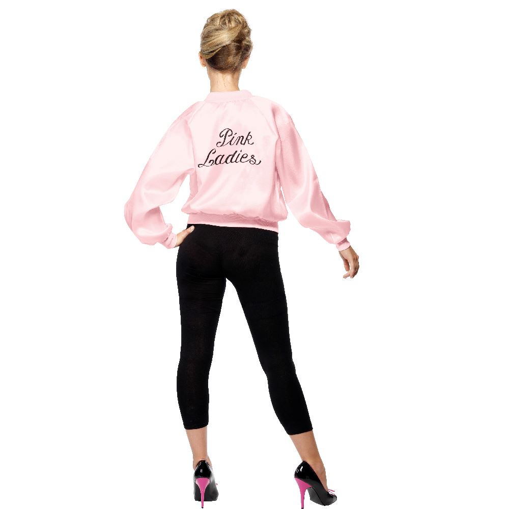 Officiel-Grease-Pink-Ladies-veste-de-Smiffys-Sandy-Rizzo-Frenchie-Marty-Jan