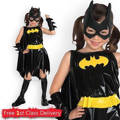 Girls-Superhero-Costume-Kids-Super-Hero-Fancy-Dress-  sc 1 st  eBay & Girls Superhero Costume Kids Super Hero Fancy Dress Outfit Age 3-10y ...