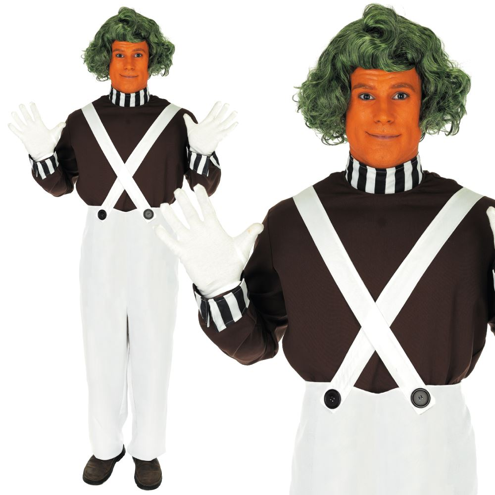 Mens Oompa Loompa Costume  sc 1 st  eBay : oompa loompa costumes for adults  - Germanpascual.Com