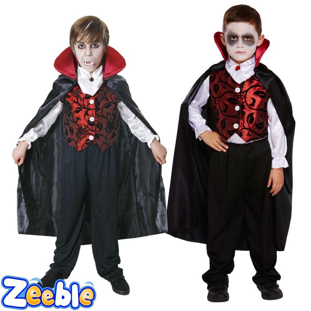 Uncategorized Halloween Dracula boys vampire costume kids dracula halloween deluxe fancy dress fancy