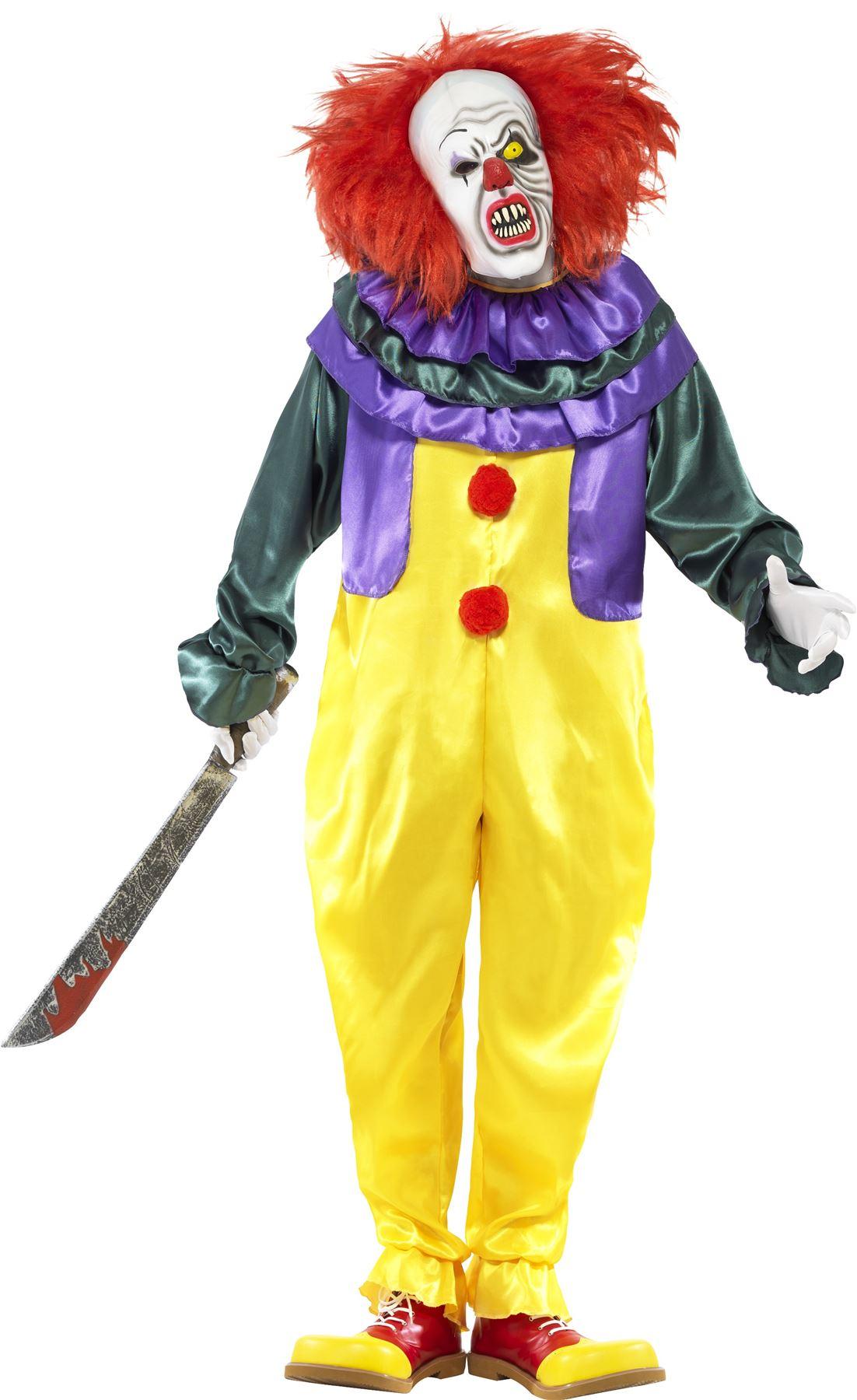 Para-Hombre-Disfraz-aterrador-que-Payaso-Malvado-Vestido-Elaborado-Halloween-Disfraz-Adulto