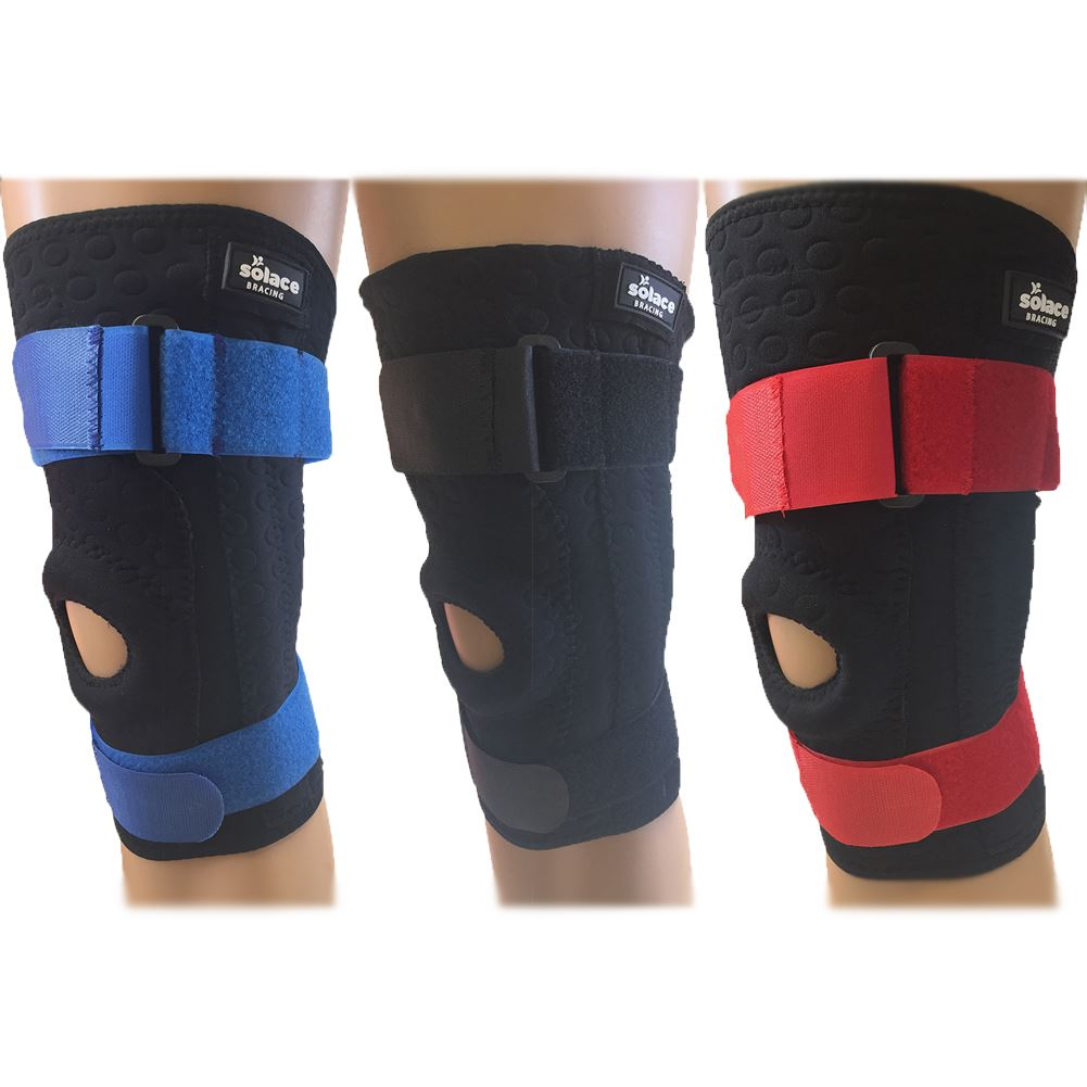 Details about  /Solace Sport Stability Adjustable Black Knee Patella Injury Support Sleeve Brace