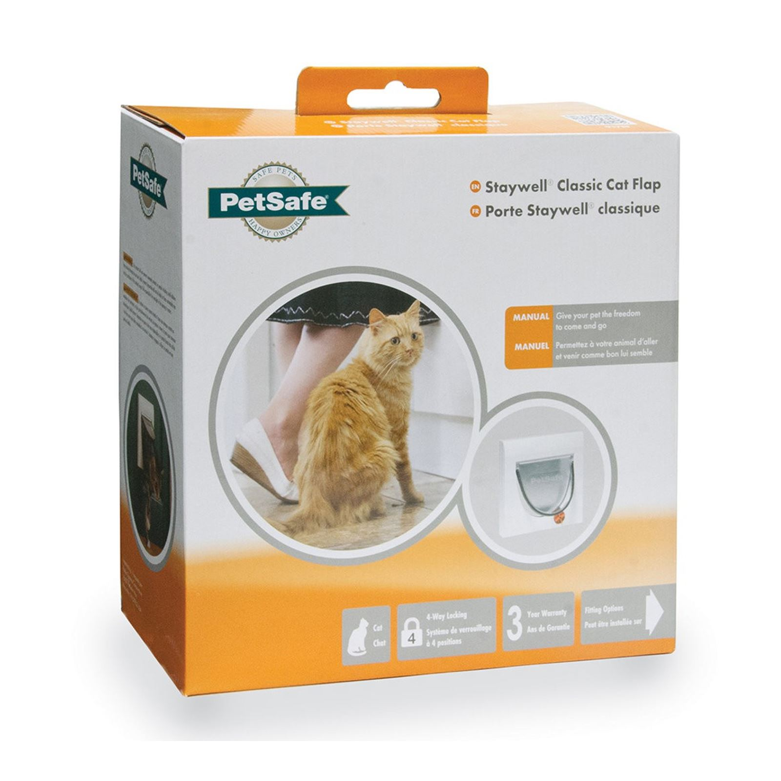 Cat-Flap-Petsafe-Staywell-Classic-4-Way-Locking-Cat-Door-Manual-Magnetic-Catflap thumbnail 7