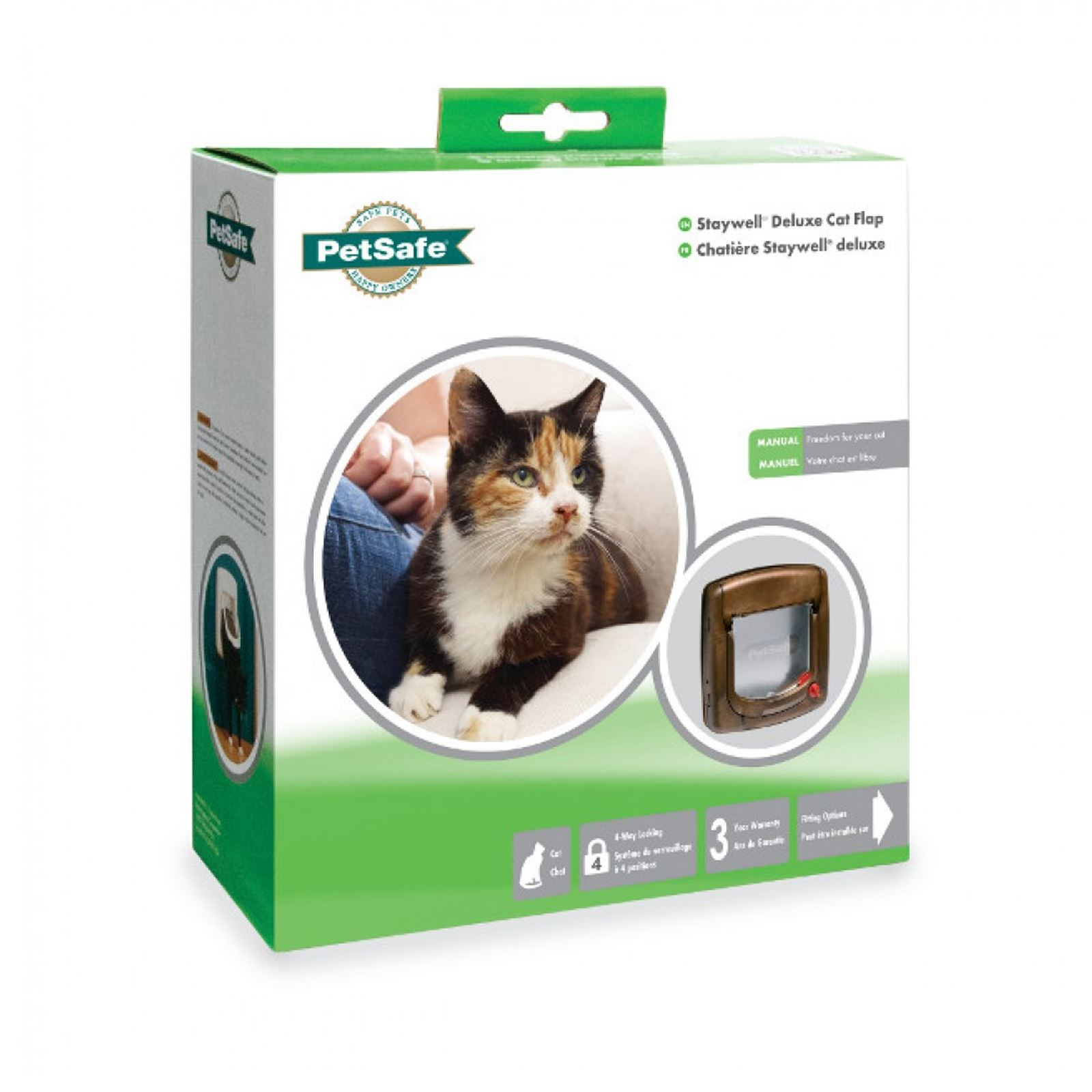 Cat-Flap-Petsafe-Staywell-Deluxe-4-Way-Locking-Cat-Door-Manual-Magnetic-catflap thumbnail 10