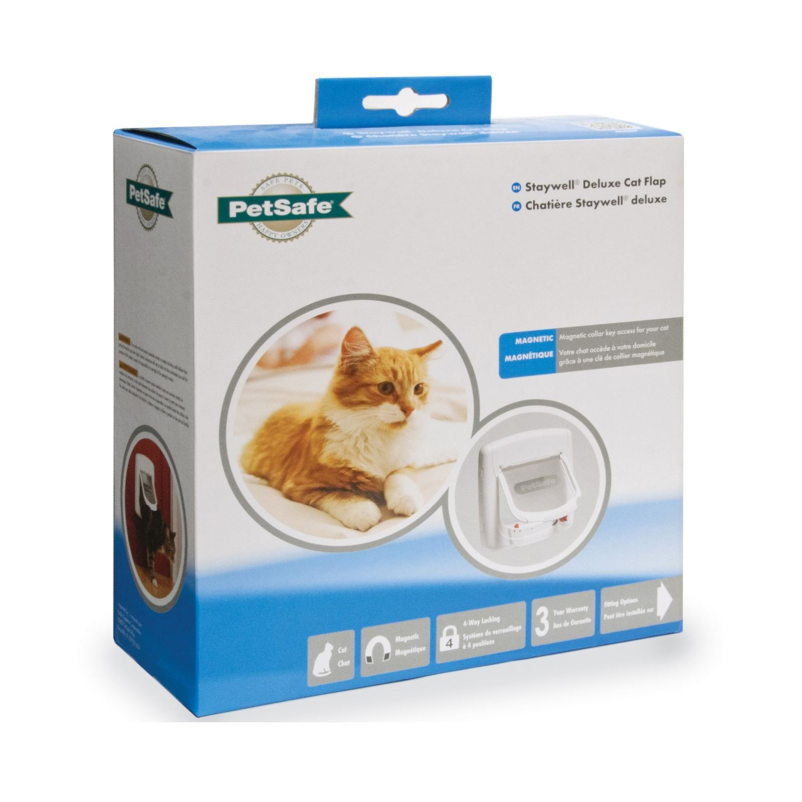 Cat-Flap-Petsafe-Staywell-Deluxe-4-Way-Locking-Cat-Door-Manual-Magnetic-catflap thumbnail 7