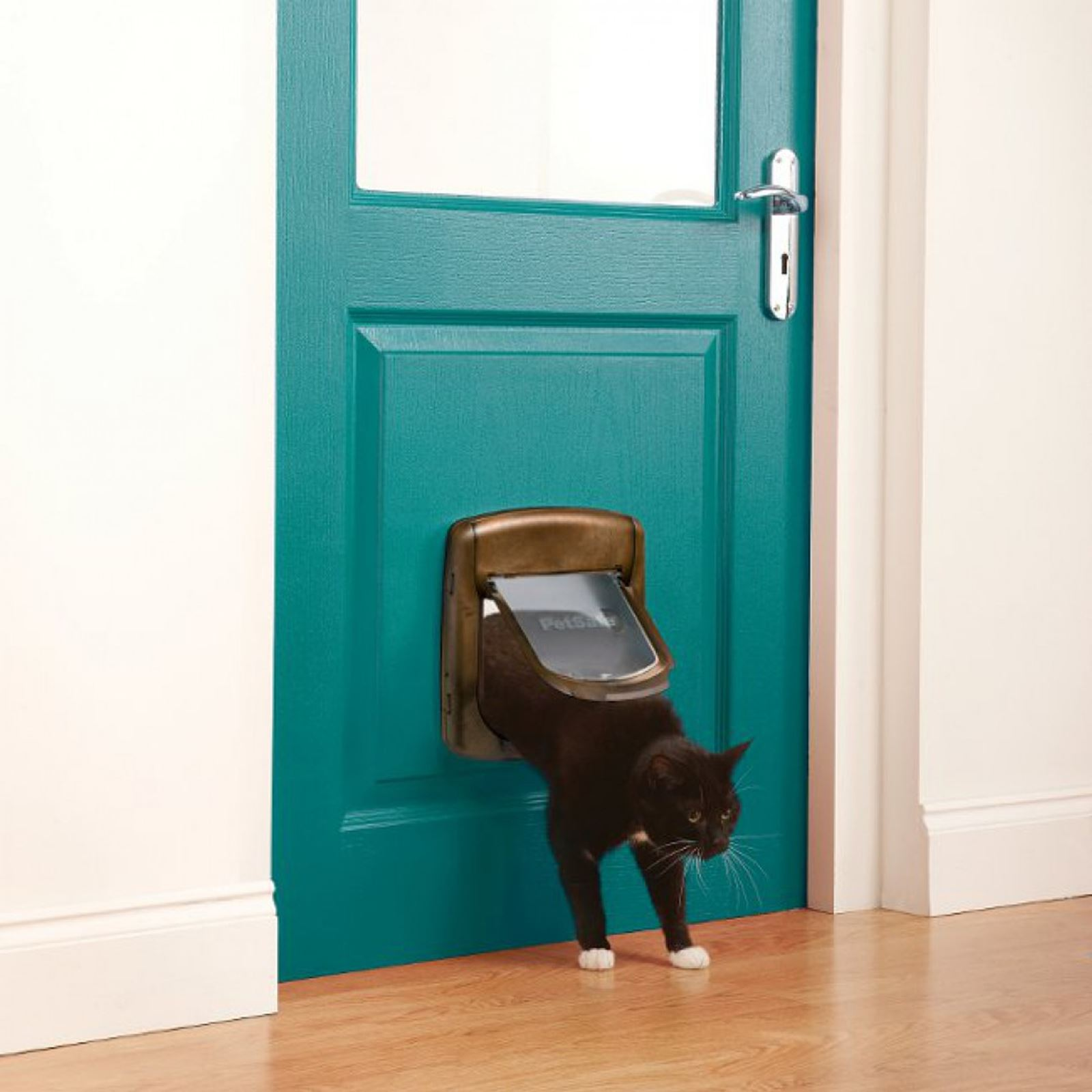 Cat-Flap-Petsafe-Staywell-Deluxe-4-Way-Locking-Cat-Door-Manual-Magnetic-catflap thumbnail 11