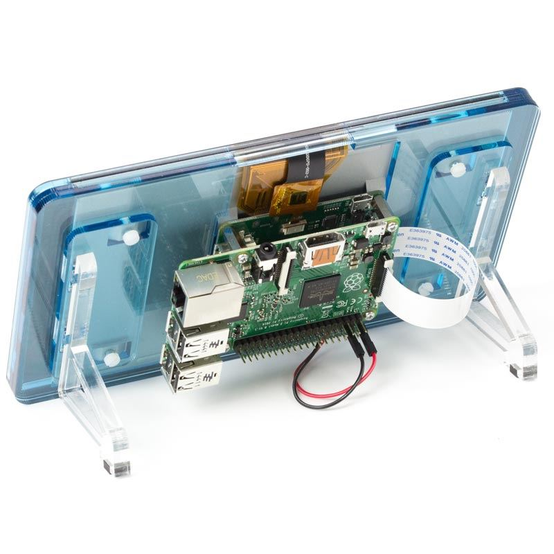 "Black Stand Official Raspberry Pi 7/"" Touchscreen Display With Noir"