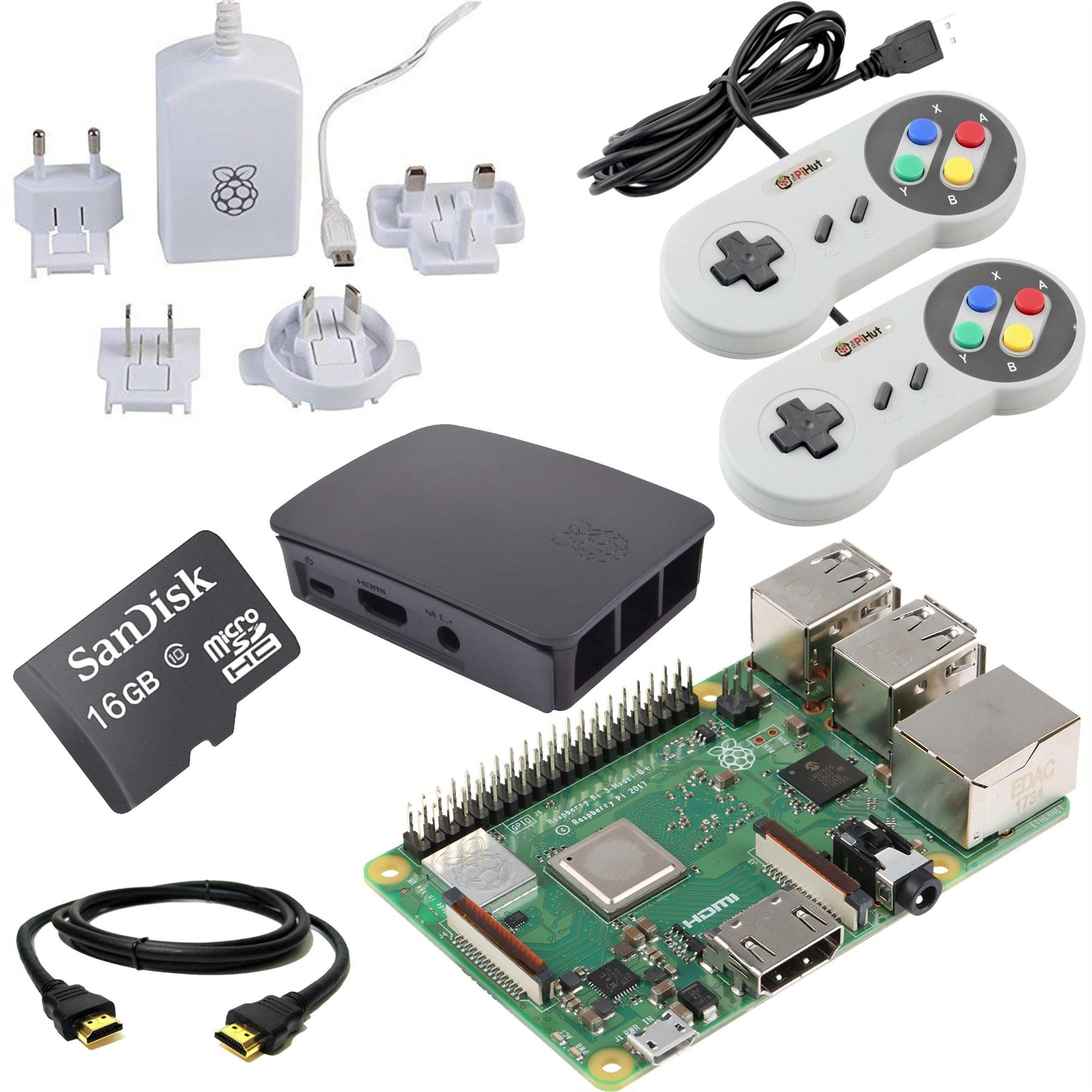 Details about Raspberry Pi 3 16GB Quad Core Retro Gaming Bundle (Latest  2018 Model 3B Plus)