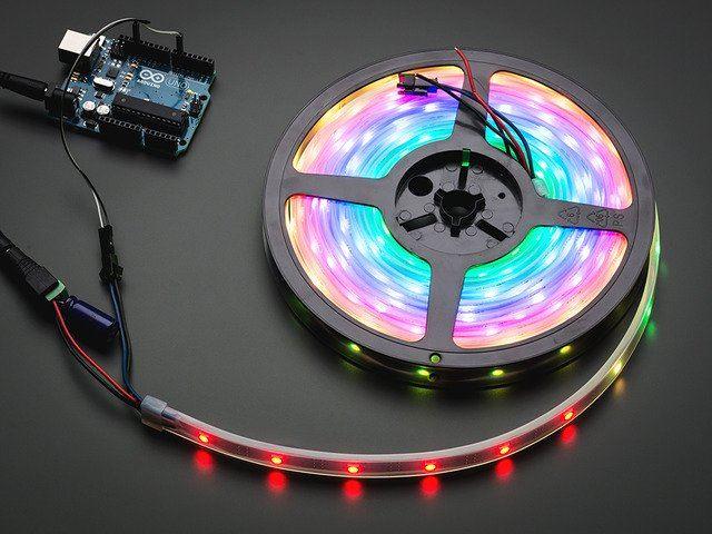 Adafruit DotStar Digital LED Strip Black 30 LED Per Meter