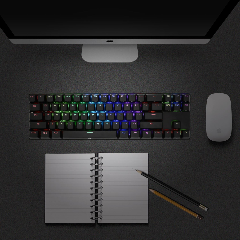 54e28784b95 Drevo Calibur 71-Key Mechanical Keyboard RGB Bluetooth 4.0 Wireless Brown  Switch 7 7 of 7 See More