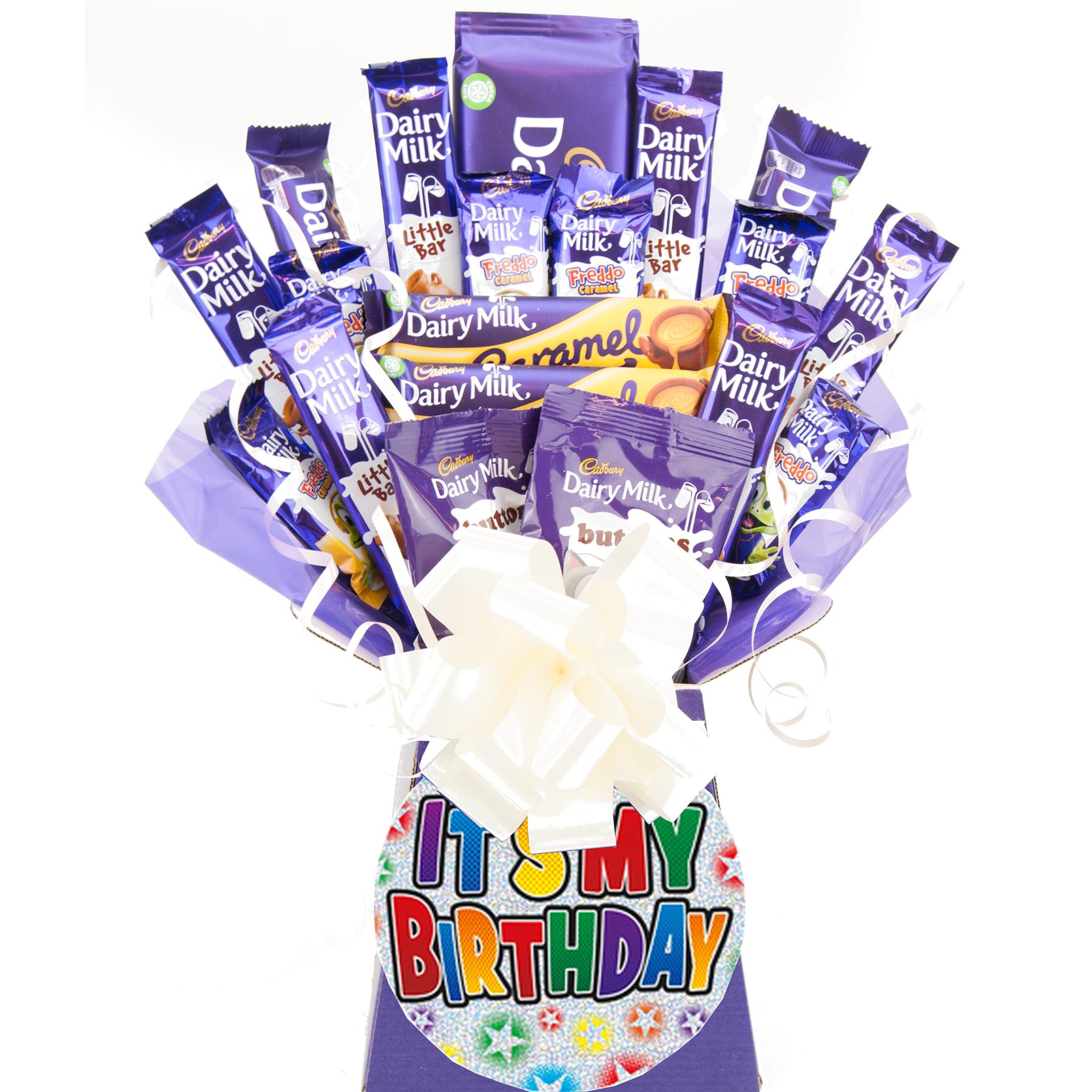 Cadbury Dairy Milk Chocolate Bouquet Gift Happy Birthday Chocolate Hamper Ebay