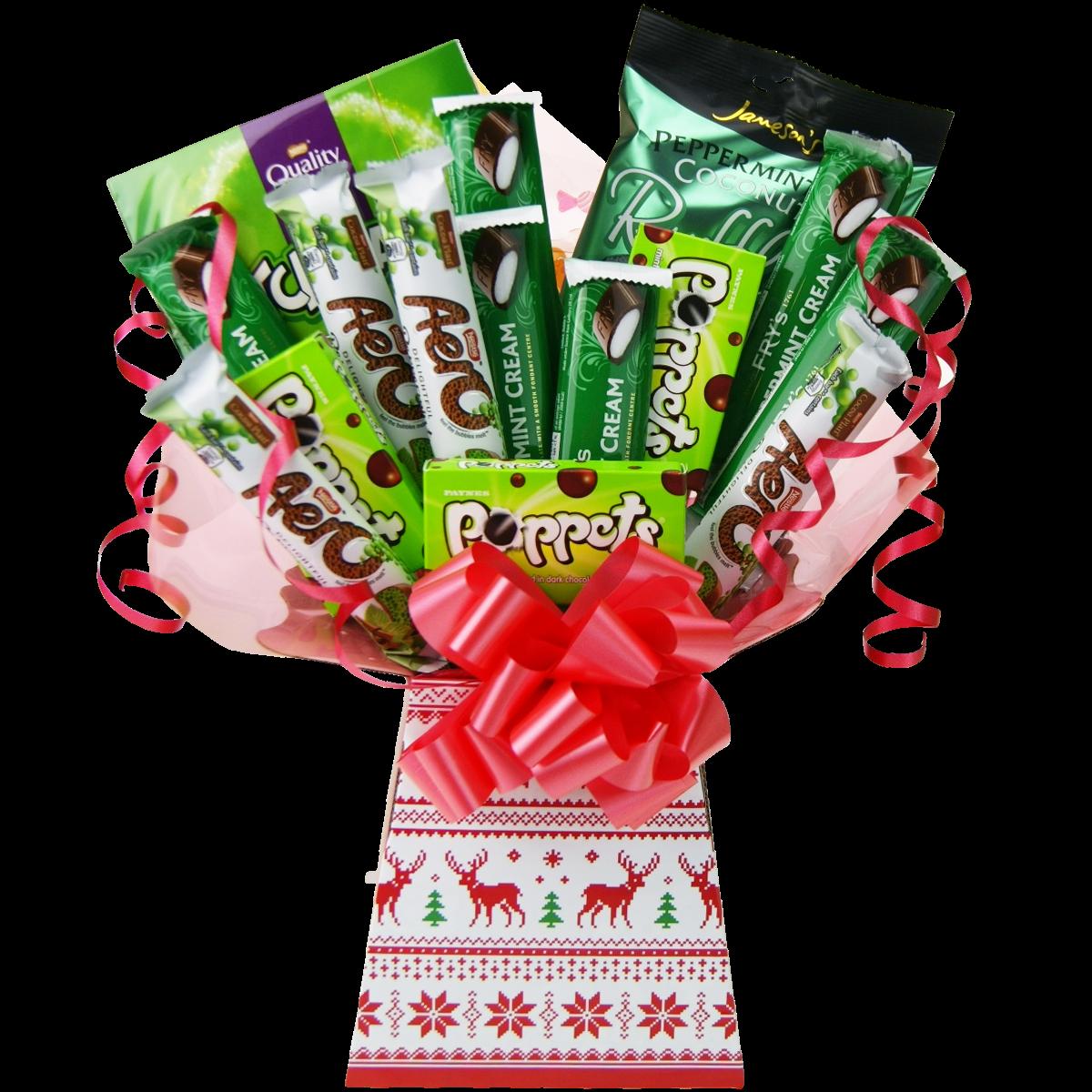 Mint Chocolate Bouquet Christmas Gift Mint Chocolate Luxury Xmas Hamper Ebay