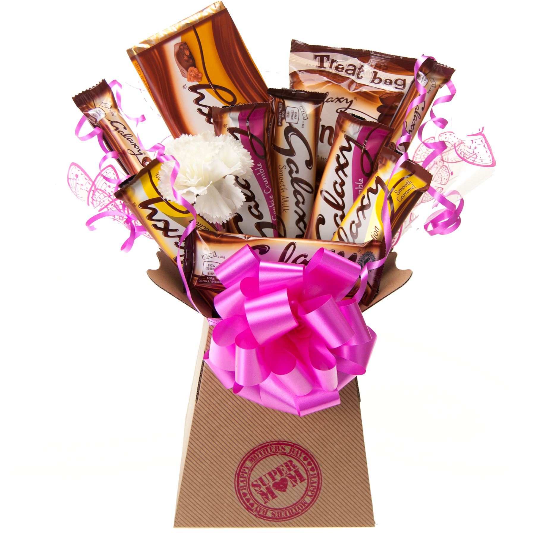 Details about Mothers Day Galaxy Chocolate Bouquet Super Mom Gift Hamper - Perfect Gift