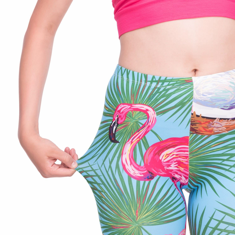7c25968c9b0ed Flamingo Unicorn Stretchable Yoga Leggings Gym Fitness Running ...