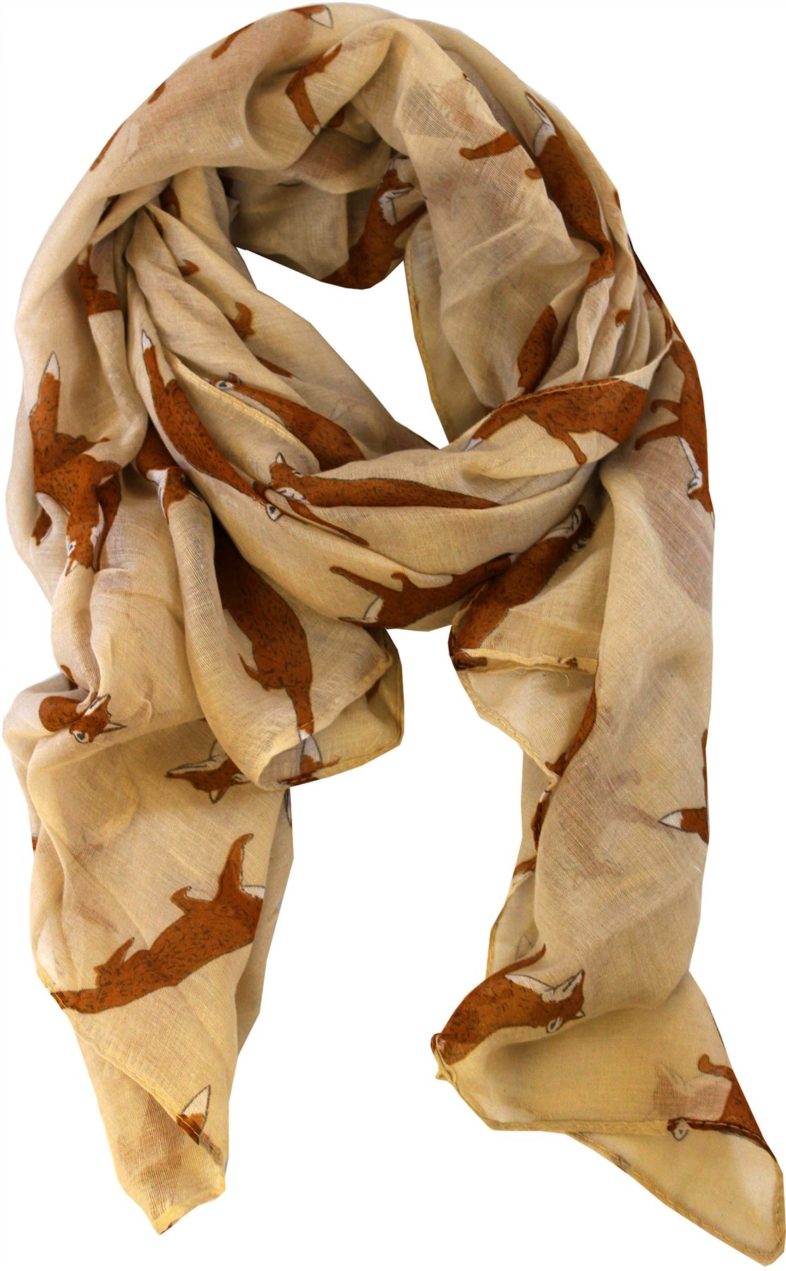 womens fox print animal shawls scarves wraps