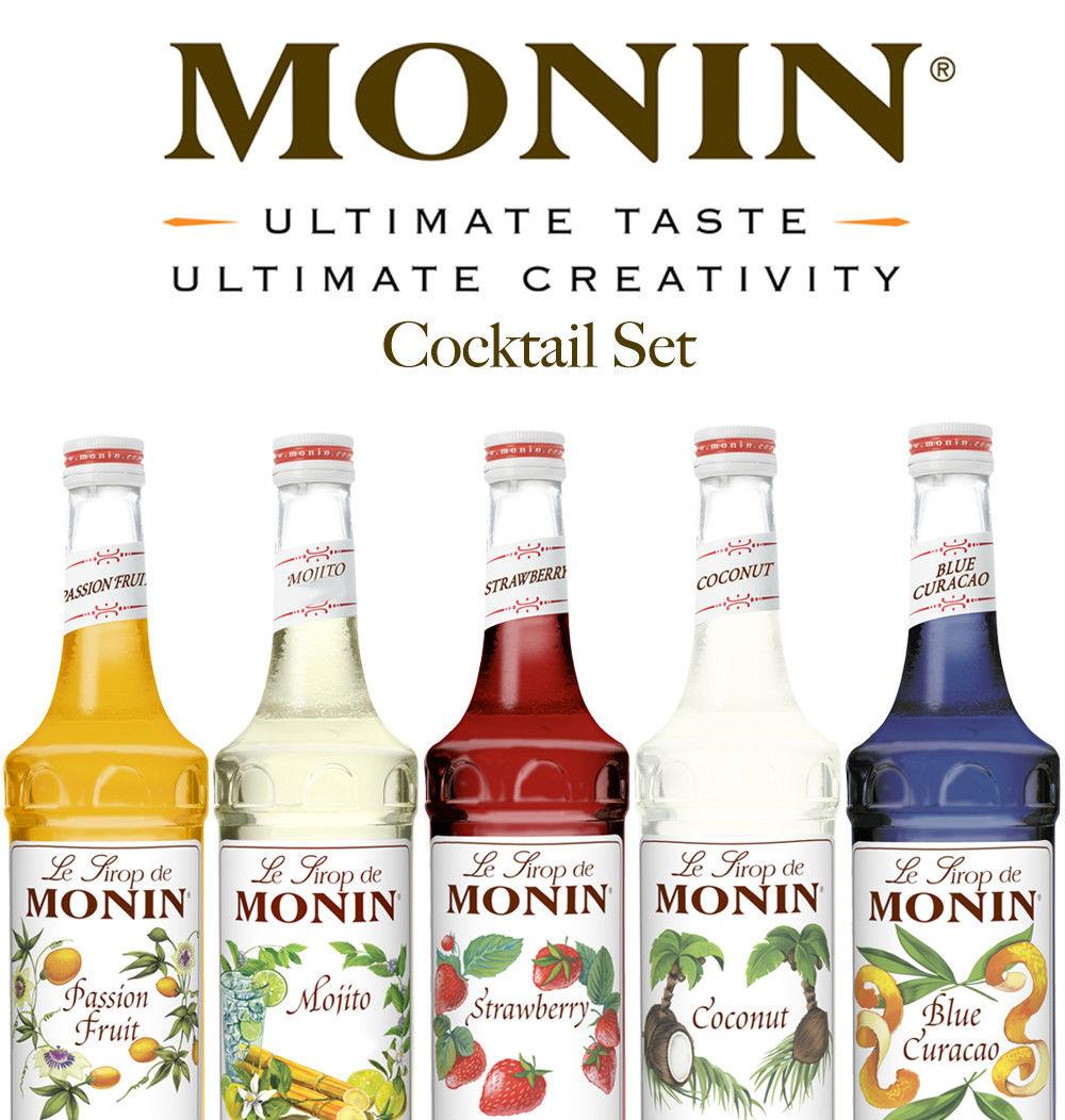 Monin Syrup Gift Set Bottle 5 x 5cl Syrups Coffee ...