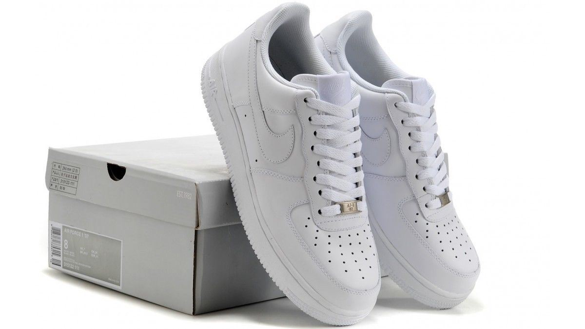 96e85c1b7e50 Nike Mens Air Force 1  07 Trainers White (315122-111)   eBay