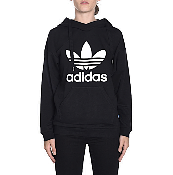 Details about Adidas Originals Women's V Day Trefoil Hoodie Bright Red Top Pullover Vivid Neon