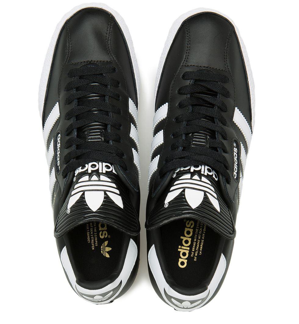 7455439b279140 Adidas Originals Mens Samba Super Trainers Black White (019099)