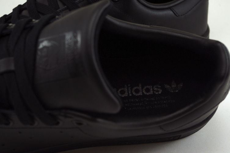 Adidas-Mens-Stan-Smith-Leather-Trainers-White-Navy-Green-Orange-and-Black thumbnail 5