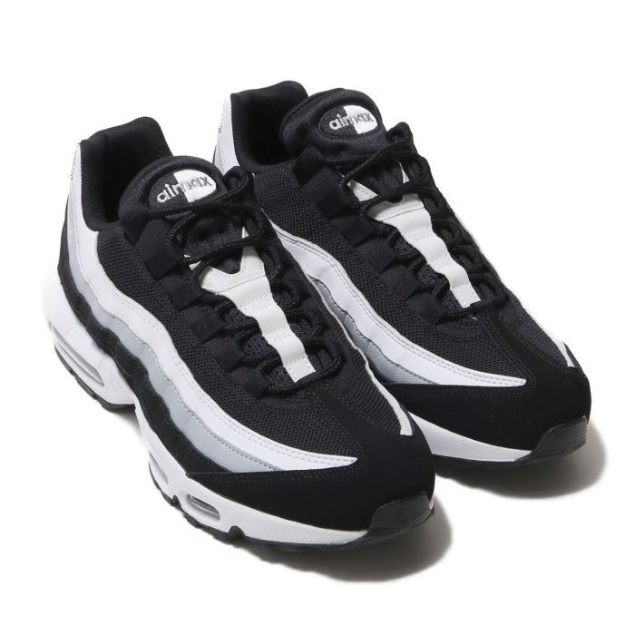Details about Men's Nike Air Max 95 Essential Classic Trainers Sneakers Black/White