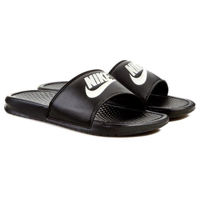 fa5fb693c Nike Benassi JDI Black White Just Do It Men Sport Slippers Slides  343880-090 UK 13. About this product. Picture 1 of 2  Picture 2 of 2
