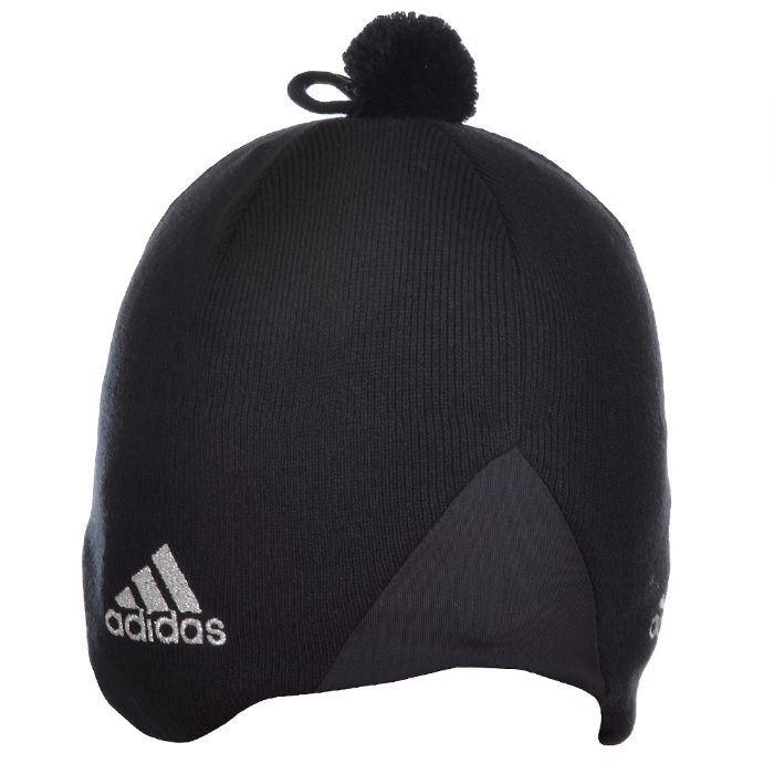 Adidas Unisex Russian Crest Black Beanie GC Tech Ear Bobble Hat ... 20c5da36afa