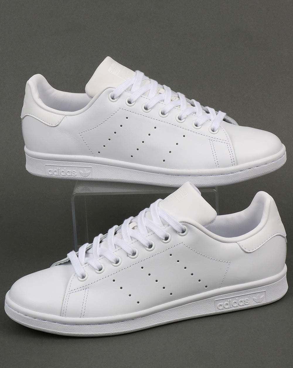 Details zu Adidas Herren original Stan Smith Turnschuhe weiß (S75104)