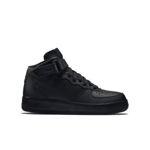 Nike air force 1 metà ragazzi i bambini neri (314195-004)