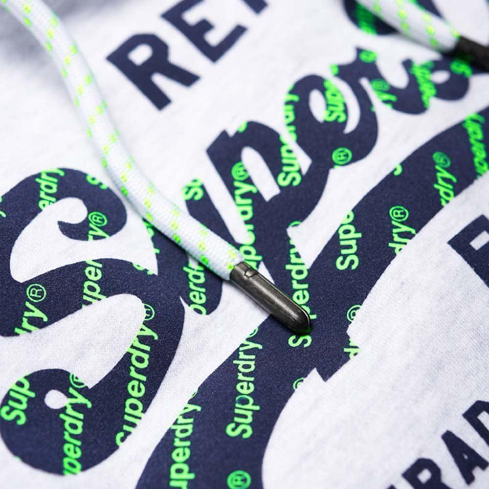 Details zu Superdry Herren Vintage Neon Spitze Kapuzenpullover Weiß