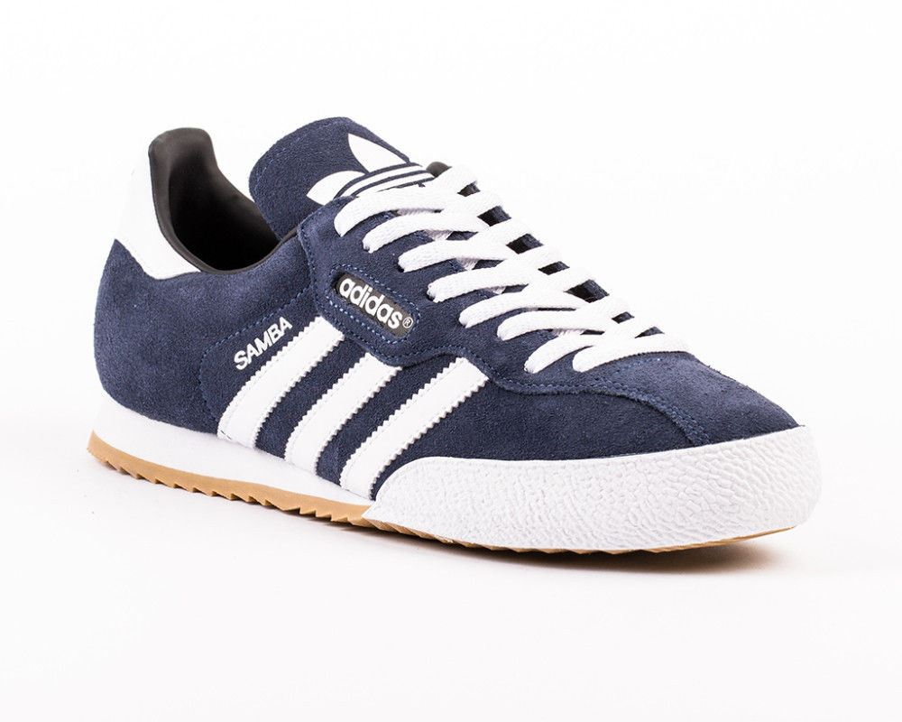 1e4473907 Details about Adidas Mens Sam Super Suede Trainers Navy/White (19332)