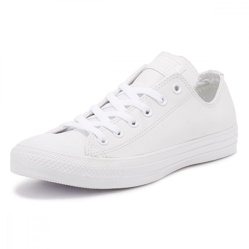 dbec665d0621c7 Converse Chuck Taylor All Star Leather 136823C - White Mens Trainers ...