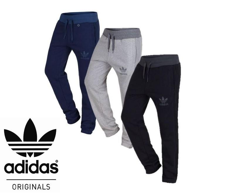 Detalles de Adidas Originals Spo Sudor Pantalones Chandal Correr Negro, Gris y Azul Marino