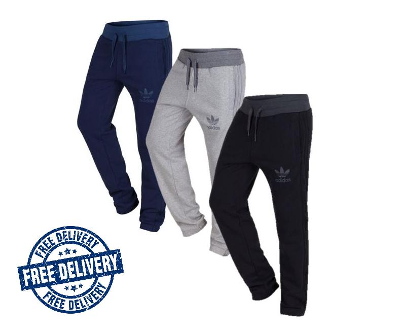 pantaloni uomo tuta adidas grigio