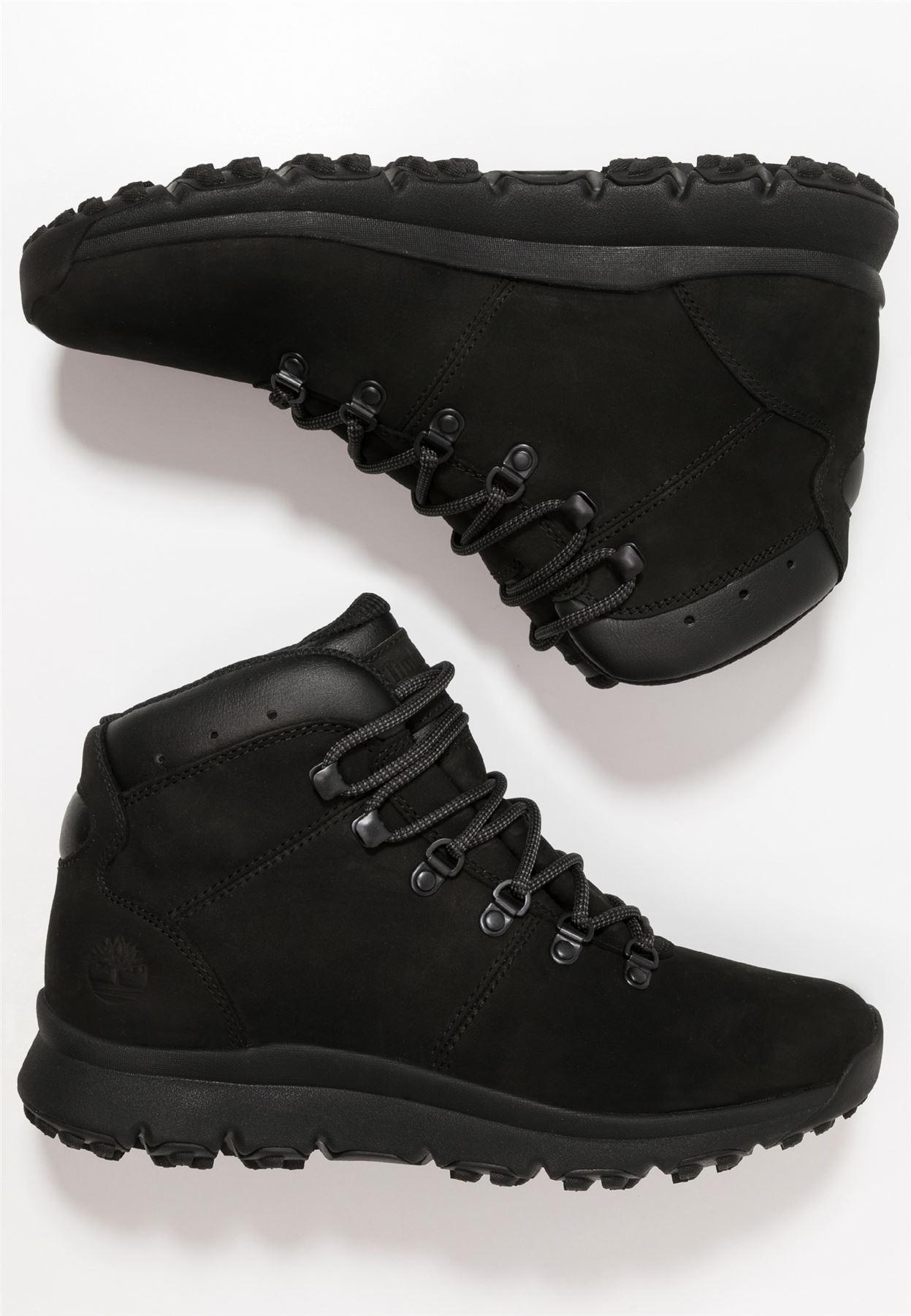 diseño elegante primer nivel productos de calidad Timberland Hombre Mundo Bota Alpinista Timbs Zapatos Negros | eBay