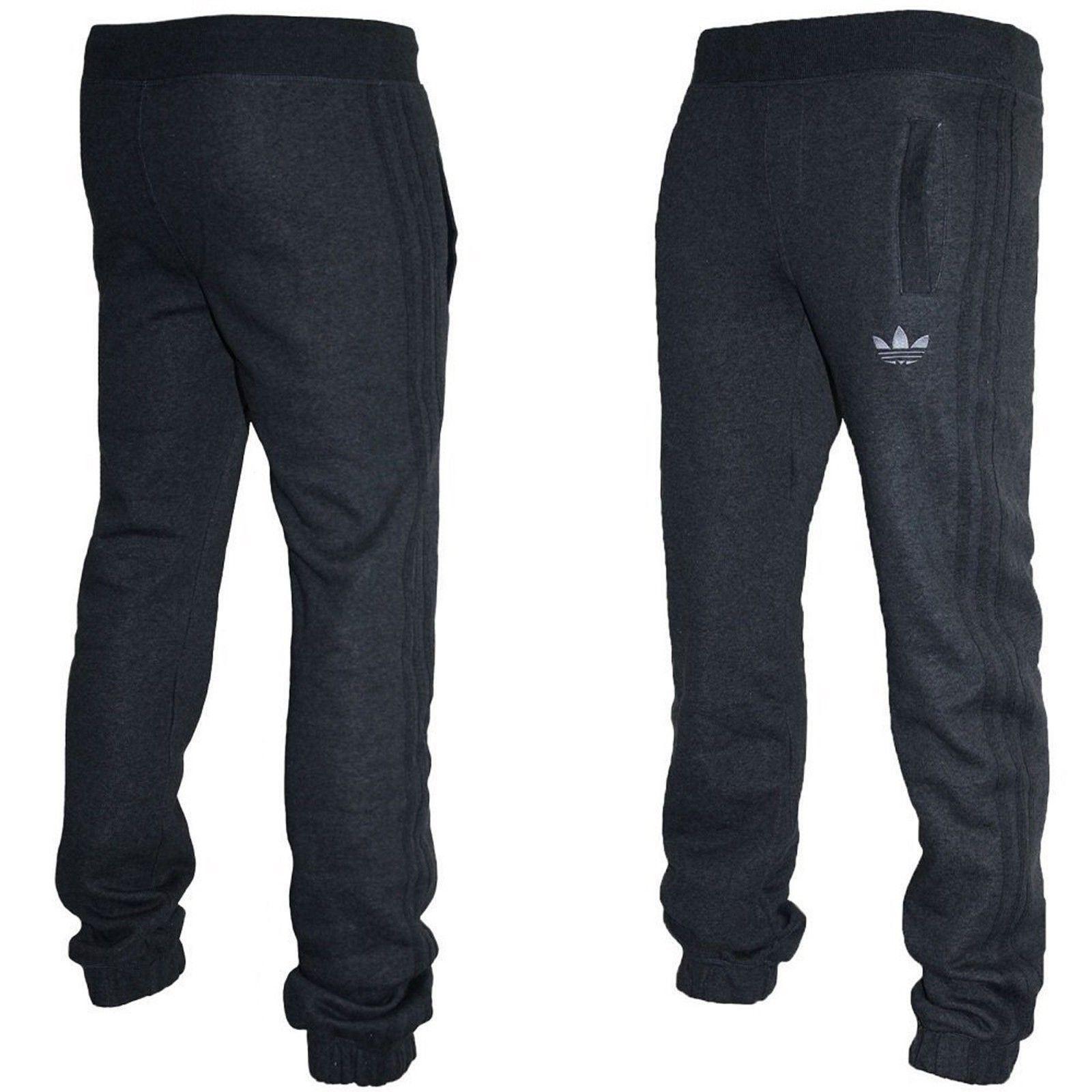 dolor de muelas sacerdote Confidencial  Adidas Mens Fleece Tracksuit Bottoms Joggers Dark Grey | eBay
