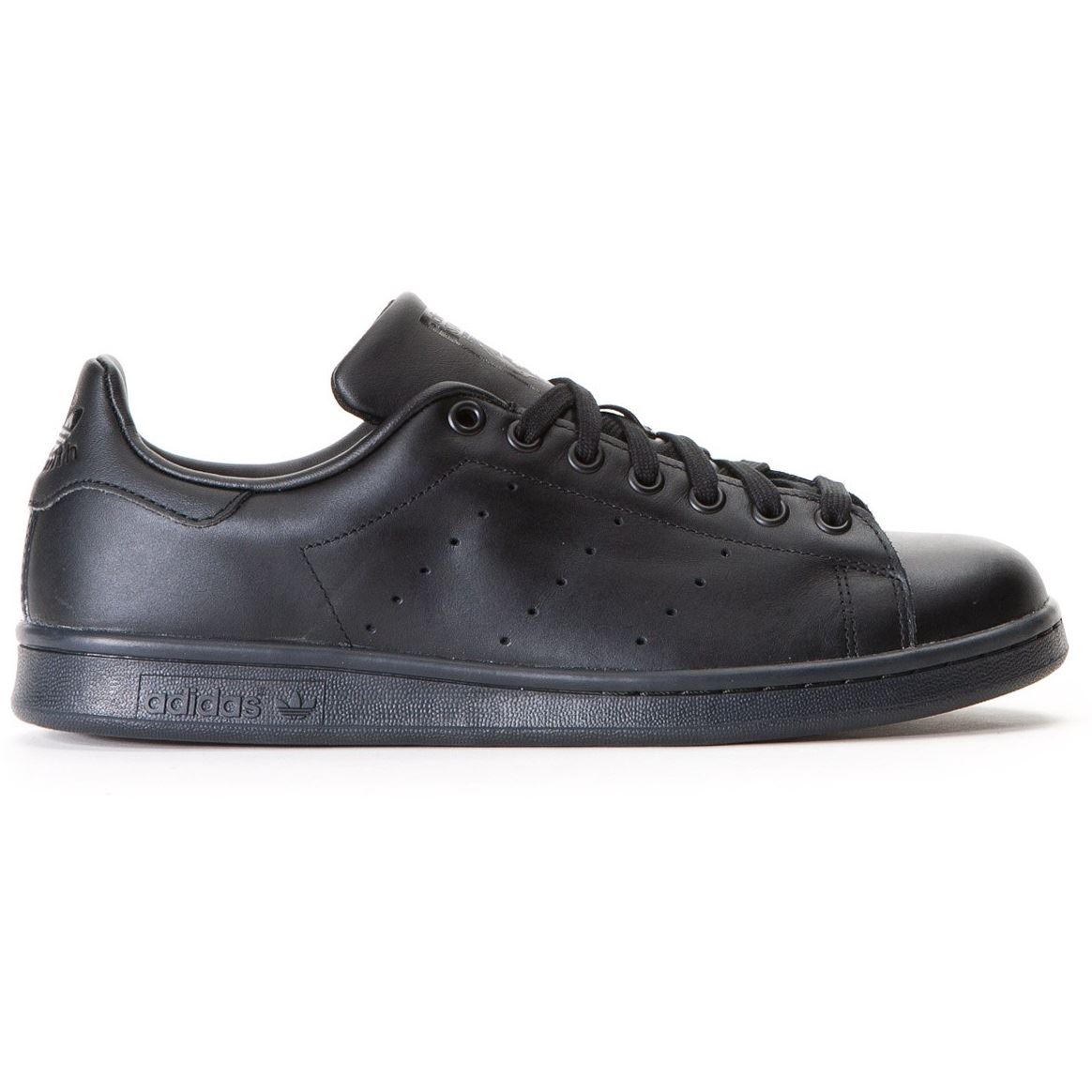 Adidas-Mens-Stan-Smith-Leather-Trainers-White-Navy-Green-Orange-and-Black thumbnail 2