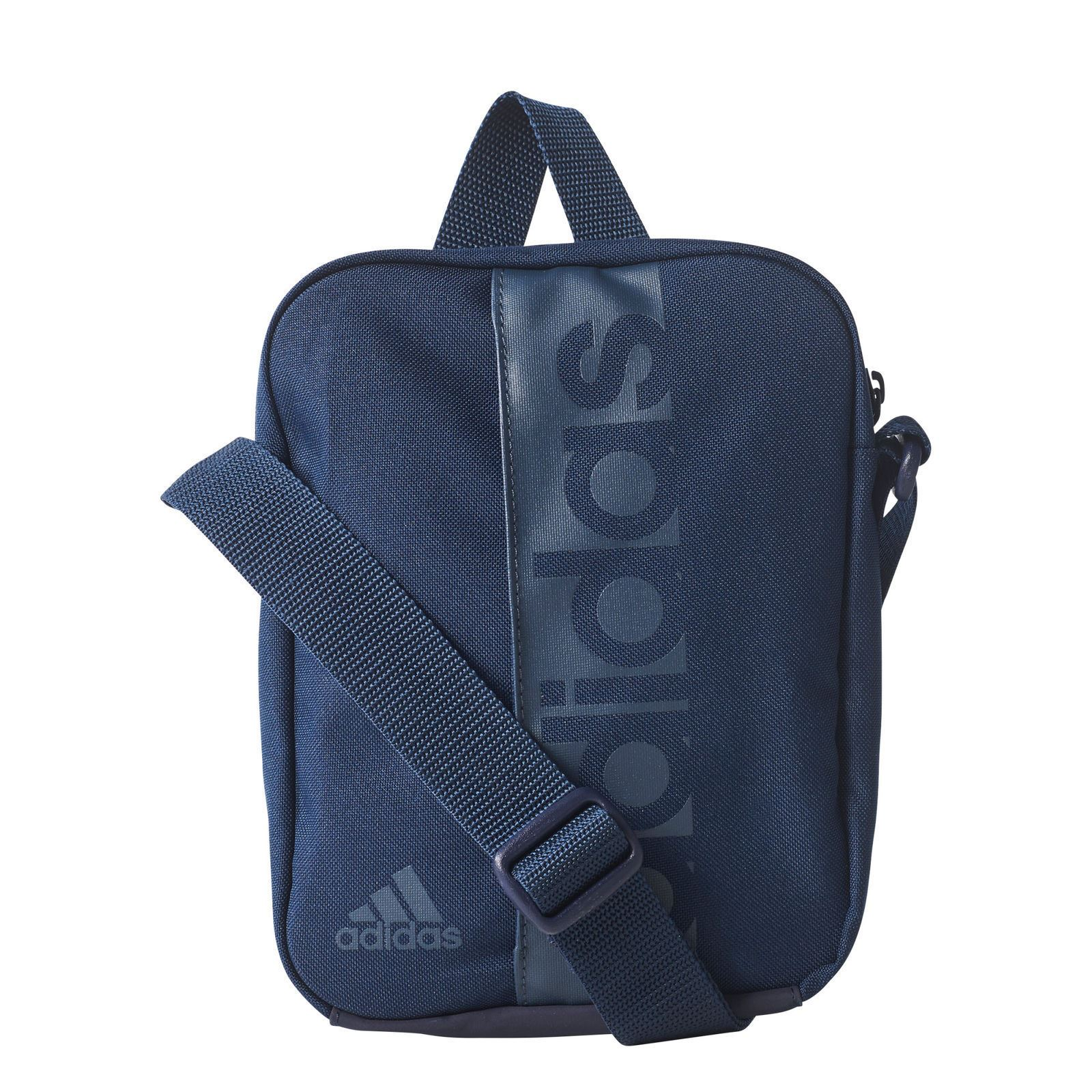 Adidas Essentials Unisex Small Man Bag Shoulder Black Blue   eBay 8b3de3f38b