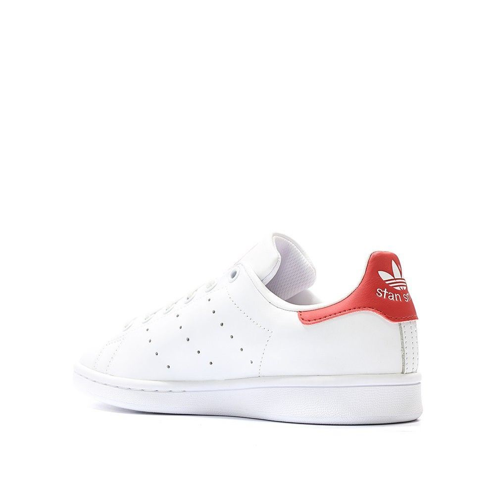Adidas-Mens-Stan-Smith-Leather-Trainers-White-Navy-Green-Orange-and-Black thumbnail 12