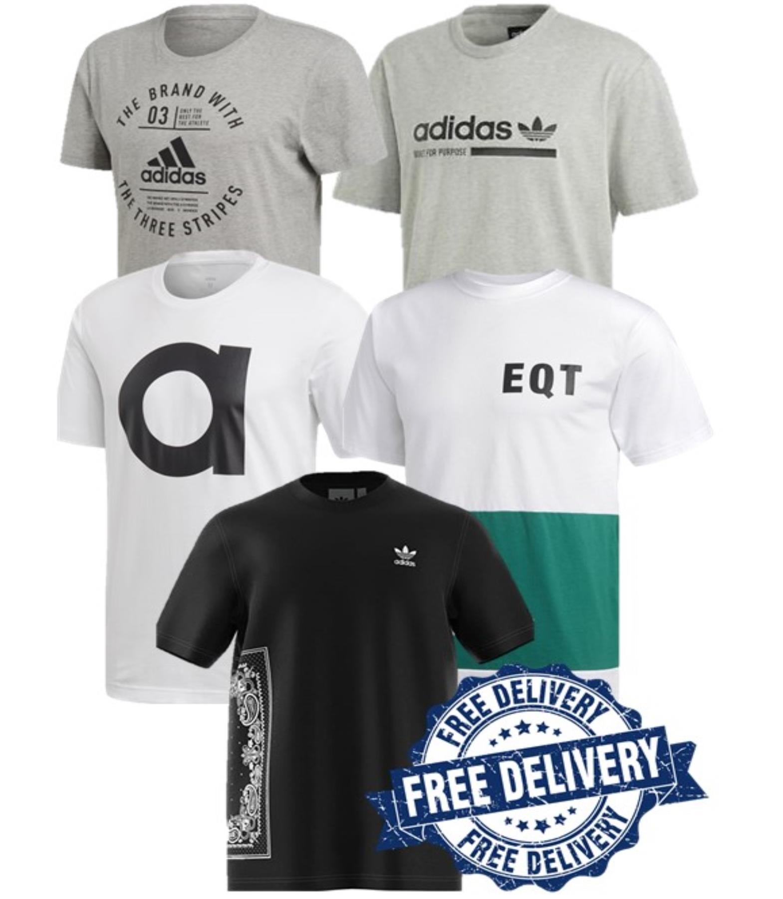 Détails sur Adidas Hommes Gym Course T Shirt Décontracté Été Pull T Shirt