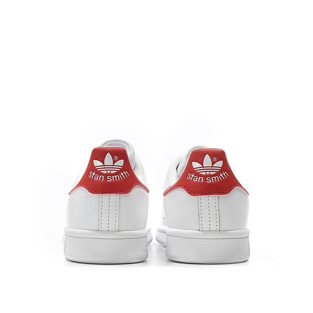 Adidas-Mens-Stan-Smith-Leather-Trainers-White-Navy-Green-Orange-and-Black thumbnail 14