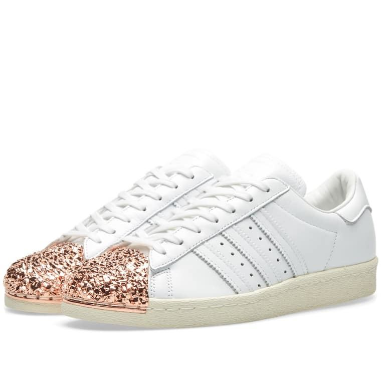 Adidas Originals Mujer Superstar 80s D MT Rose Trainers Oro Trainers Rose Blanco b0d5df