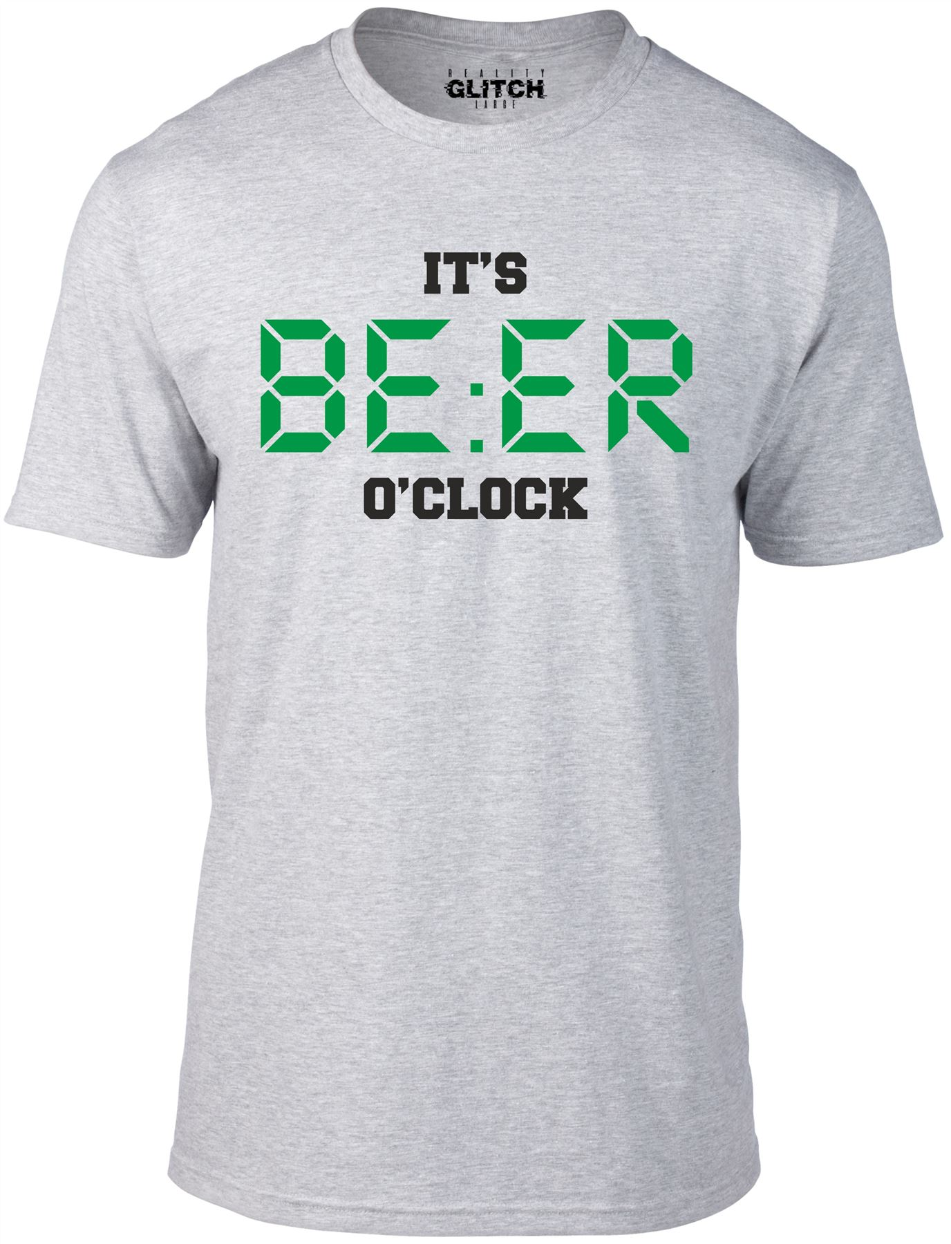 Men's It's Beer O'Clock T-Shirt Drinking Pub Stag Party Ale