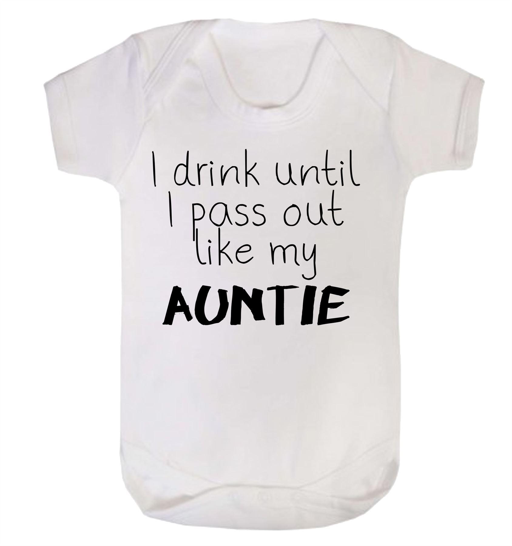 I drink until I pass out Funny Baby Vest gift joke cute grow bodysuit boy girl