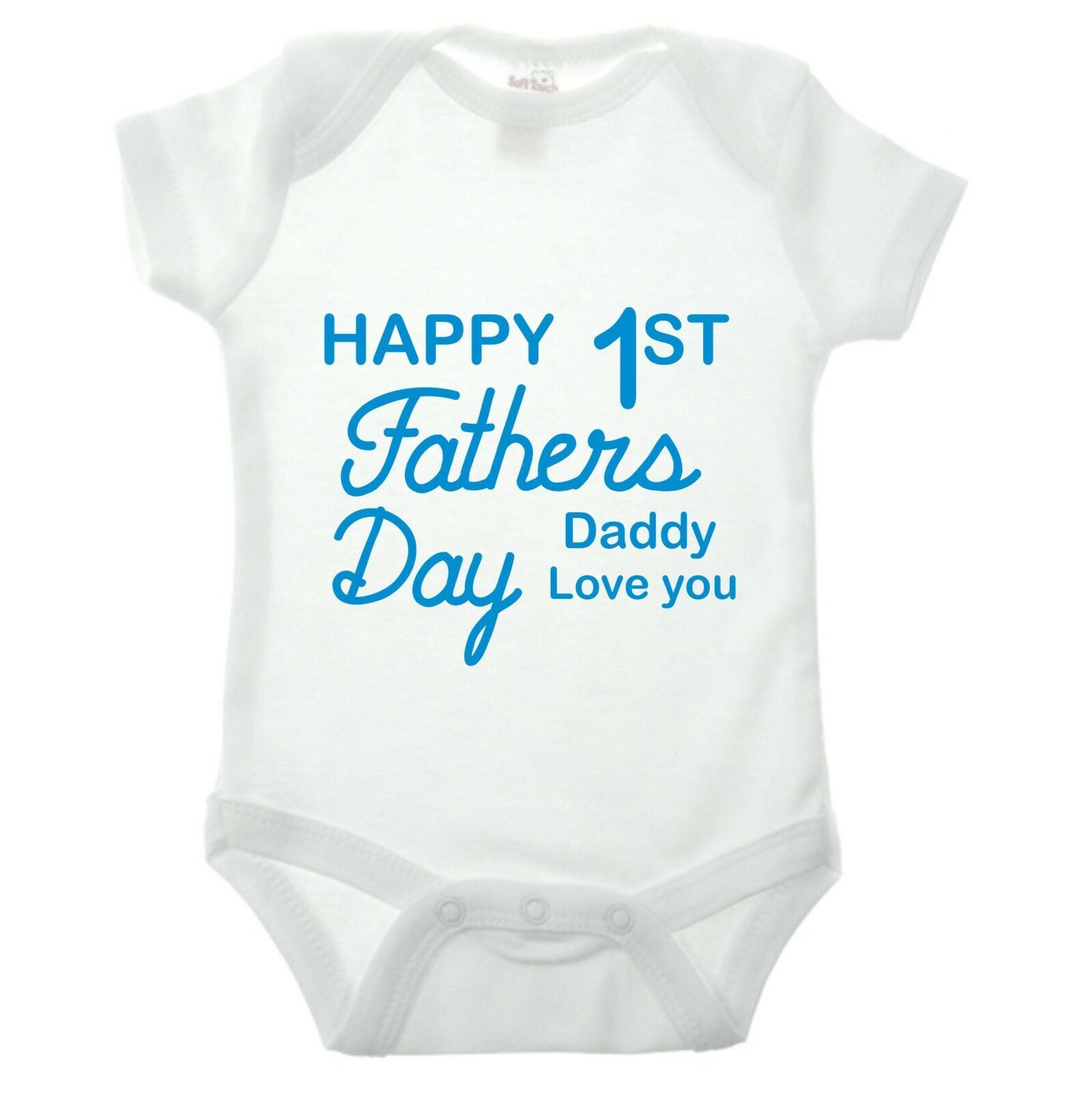 Personalised 1st Happy First Fathers Baby Kids Present Grow Body Suit Vest Girl