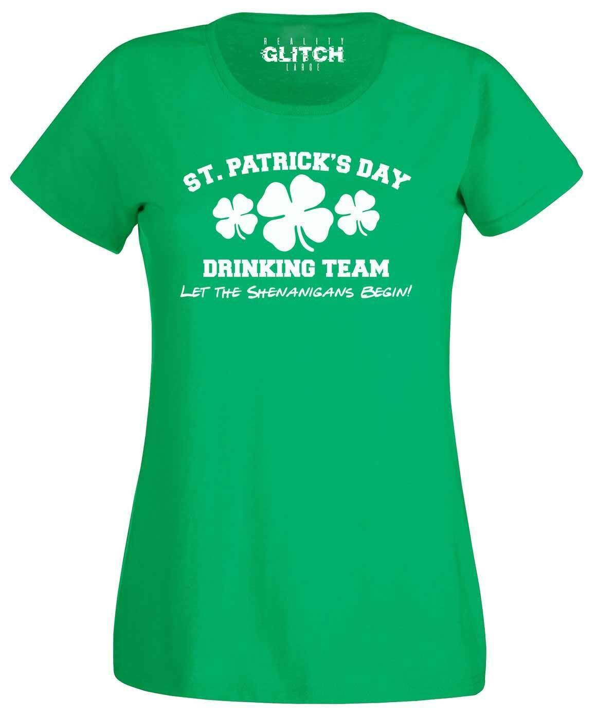 Men/'s T-shirt funny St Irish Drinking Team Green Patrick/'s Day tee