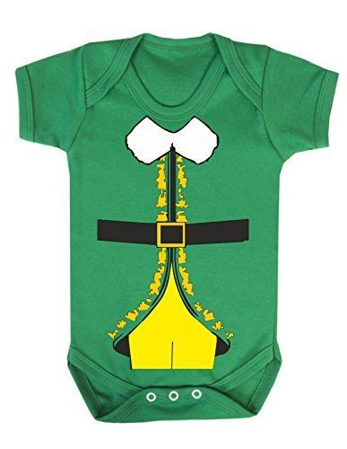 Baby Christmas Elf All In One Babygrow Outfit//Fancy Dress Up//Costume Newborn