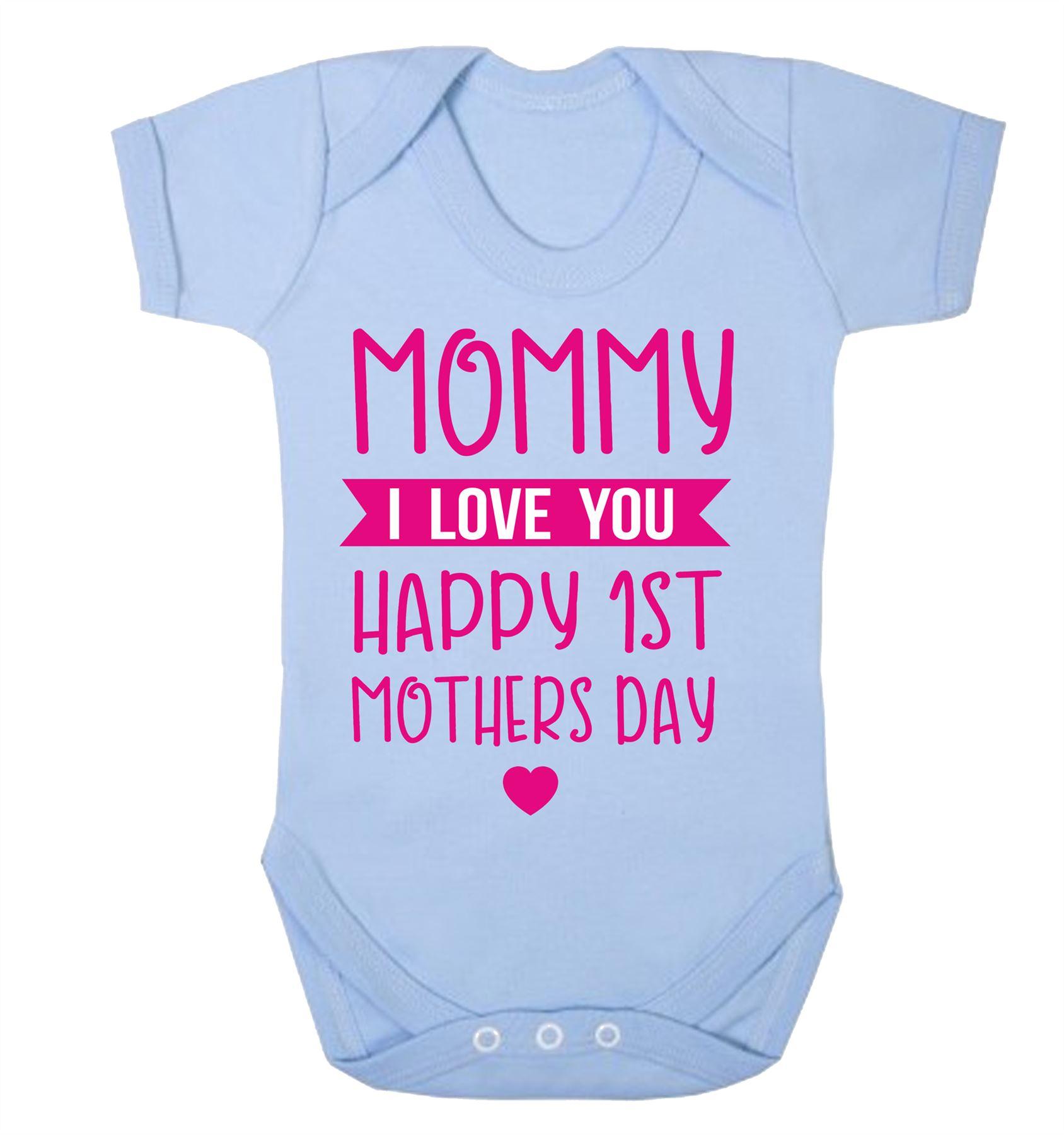 Happy Birthday Mammy Black Short Sleeve Babygrow Mum Present Celebrate