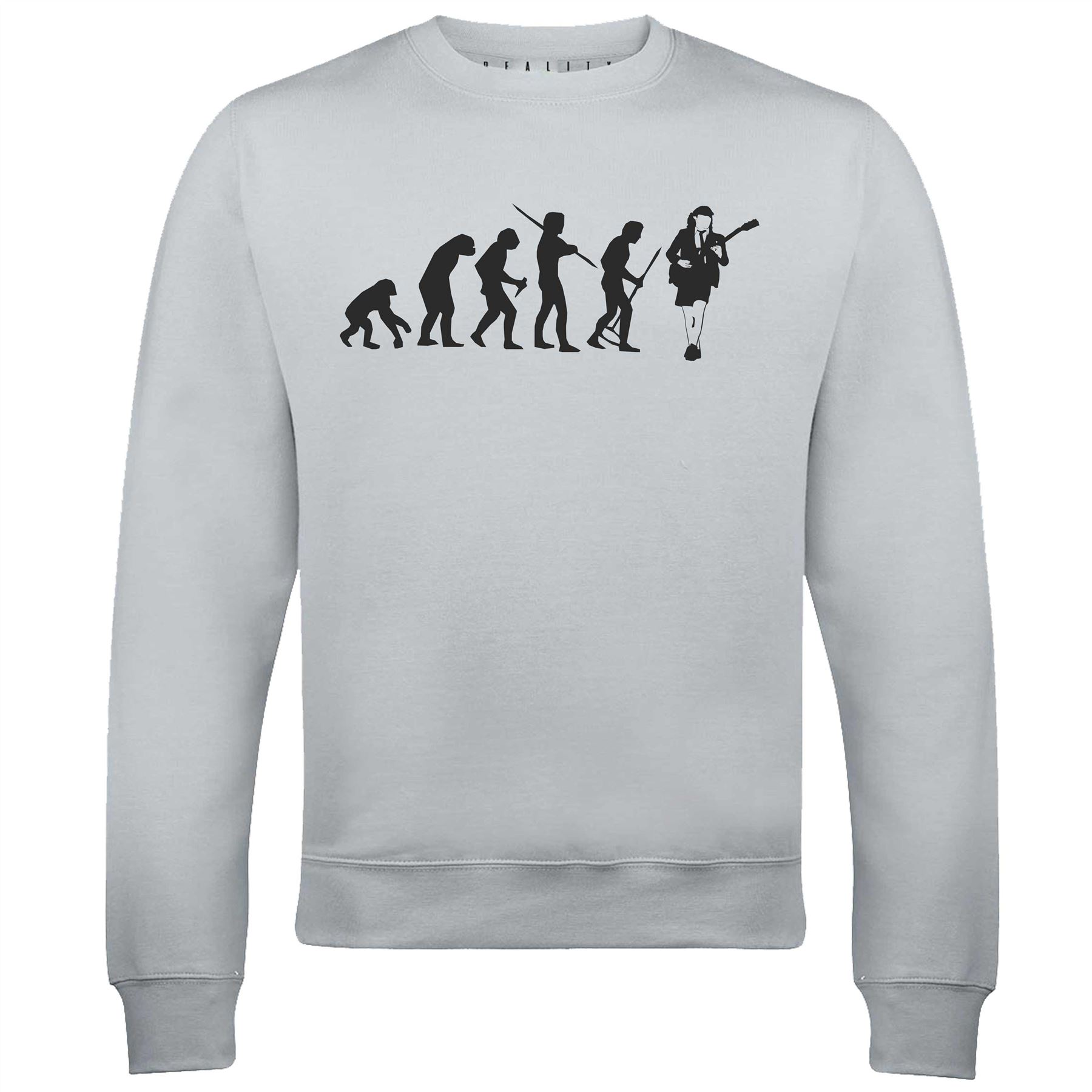 Evolution of Angus Music Young Sweat-shirt-Funny AC DC Music Angus Rock Metal Rétro Cadeau bd4010